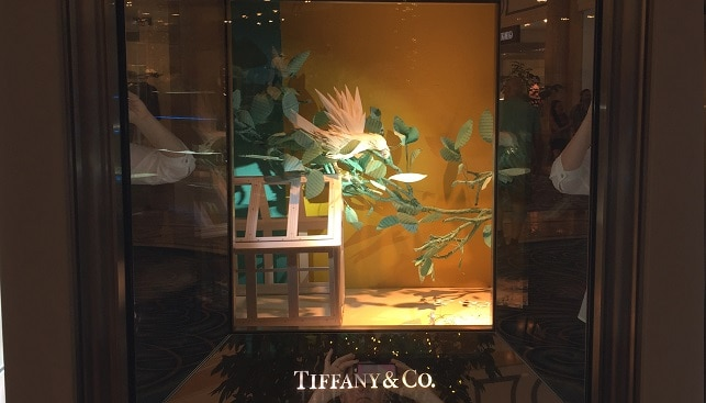 tiffany jewelry store display