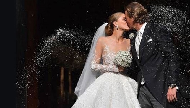 Victoria Swarovski wedding dress