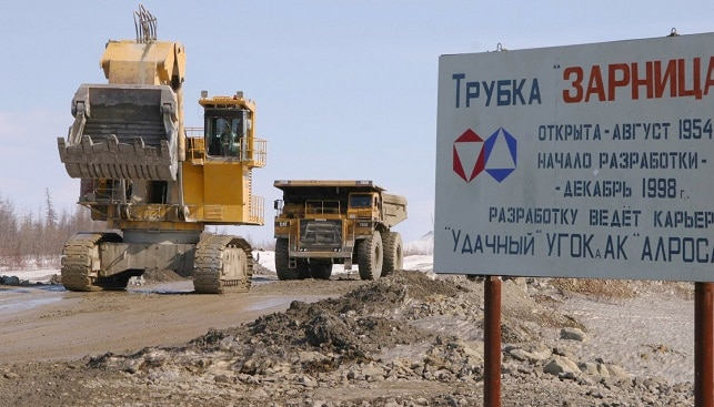 diamond mining trucks Russia