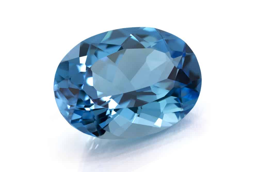 Aquamarine topaz blue gem