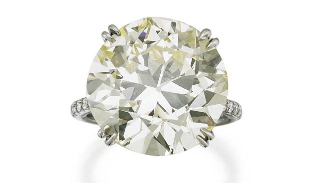 platinum diamond ring Sotheby's