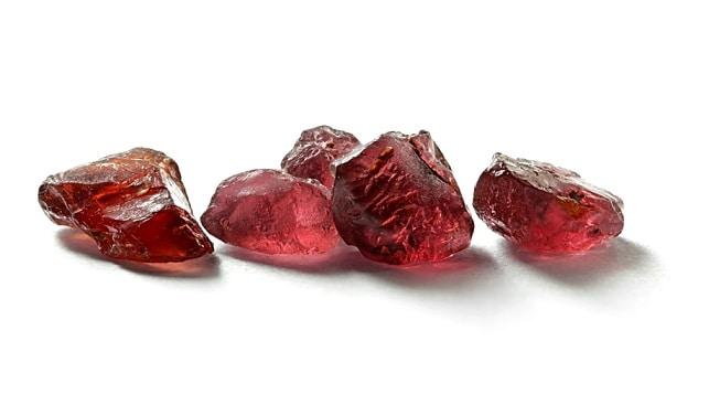 Gem garnet crystal Lapland