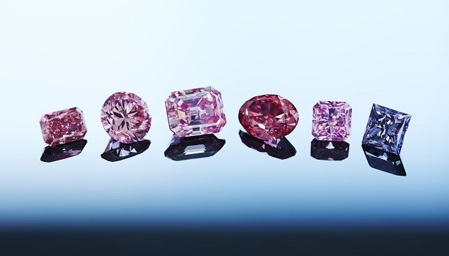Purple Red fancy diamonds