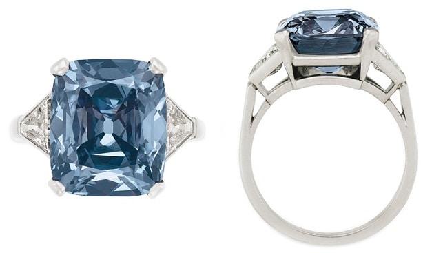 blue diamond ring Bulgari