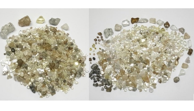 Lucara rough diamonds AngolaLucapa