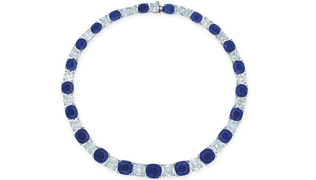 sapphire diamond necklace Christie's