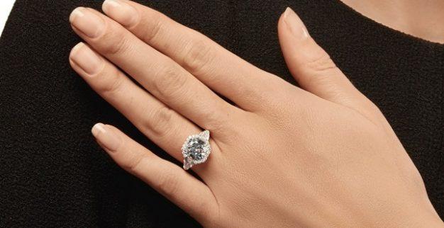 Fancy Blue Diamond Ring