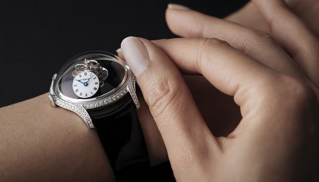 ladies diamonds watch MB&F