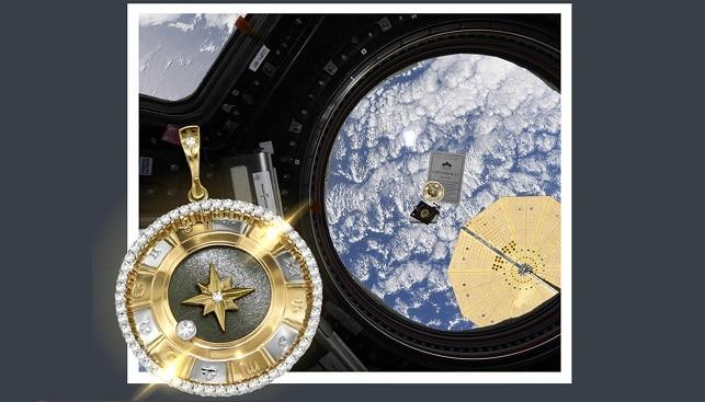 Pokrovsky Jewelry space diamond pendant