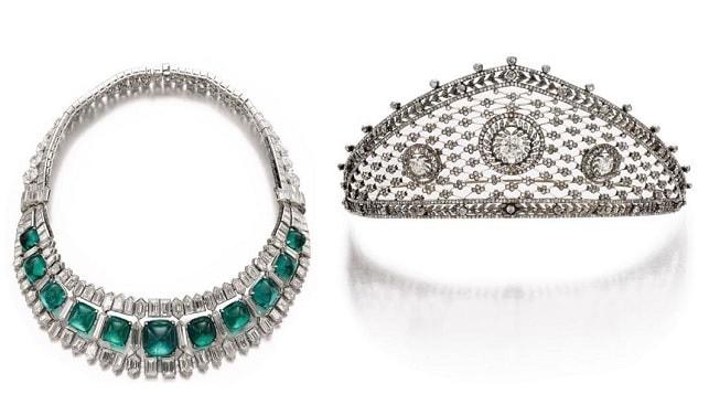 diamond emerald necklace tiara