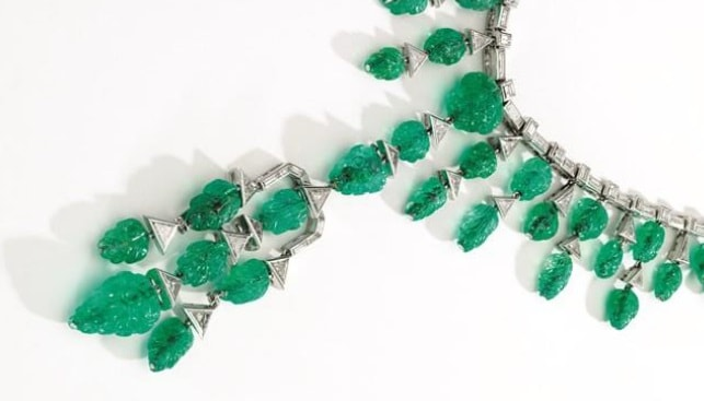 emerald diamond necklace Sotheby's