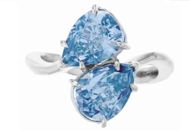 twin blue diamonds christies