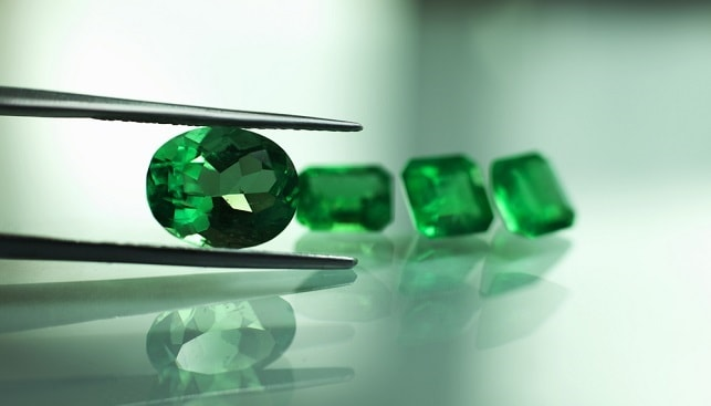 Emeralds green gemstones diamonds