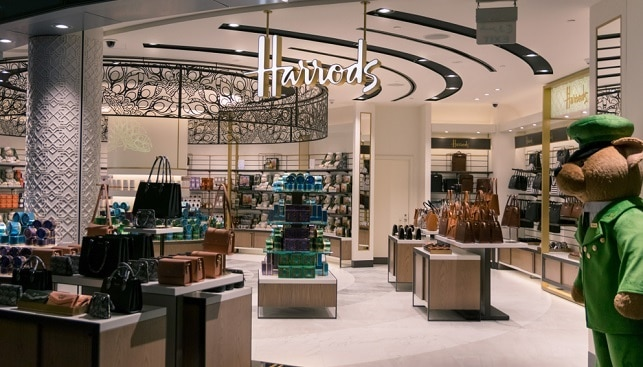 Harrods luxury jewelry store