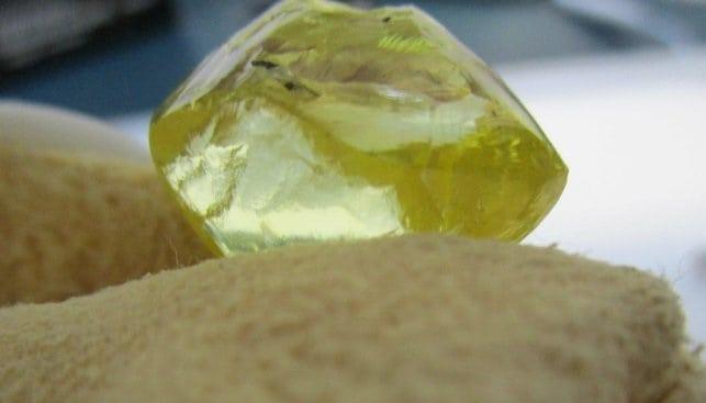54 carat fancy yellow diamond produced by Firestone Diamonds