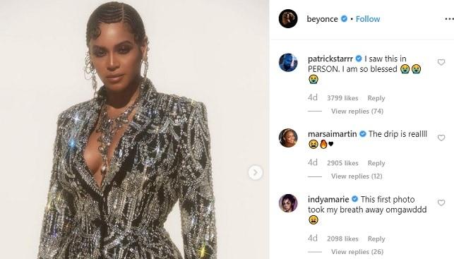 Beyoncé Diamonds dress jewelry