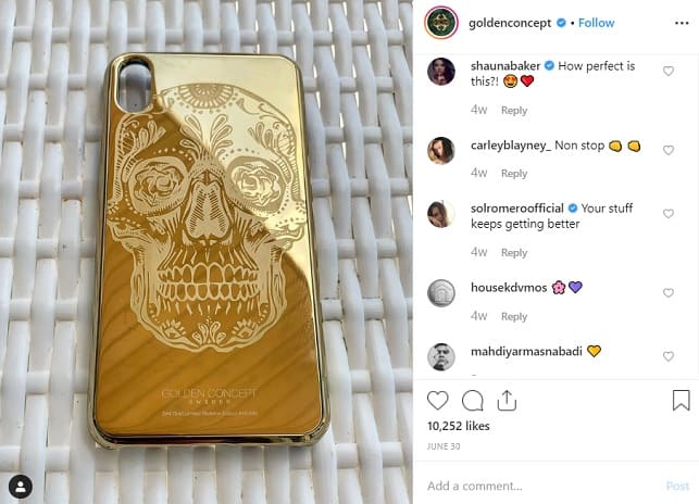 gold iphone golden concepts