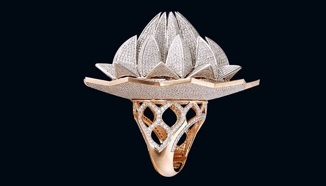 diamonds Lotus Temple Ring