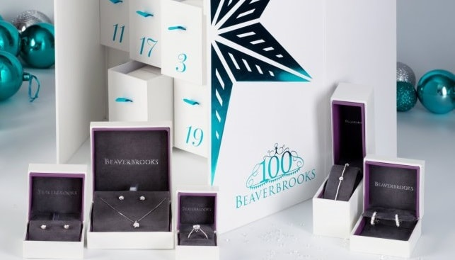 Beaverbrooks advent calendar diamond jewelry