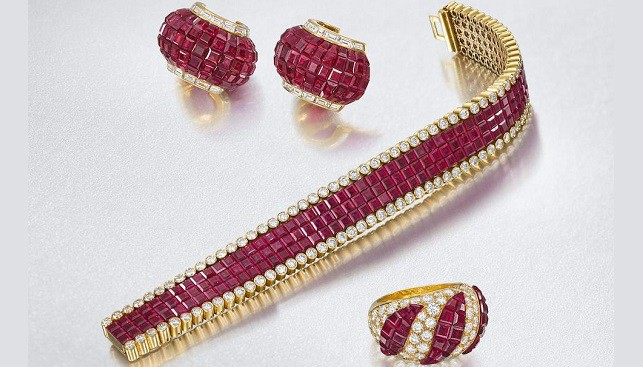 Ruby Bracelet and jewelry by Van Cleef and Arpels