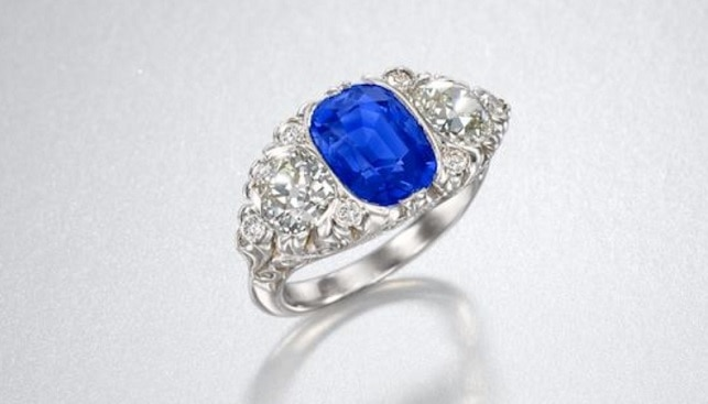 blue sapphire ring bonhams