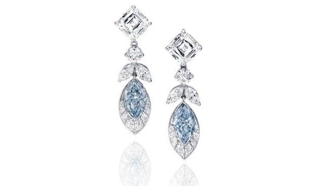 Blue Diamond Earrings Bonhams