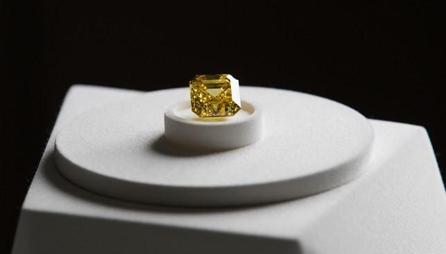 Firebird yellow diamond graff alrosa