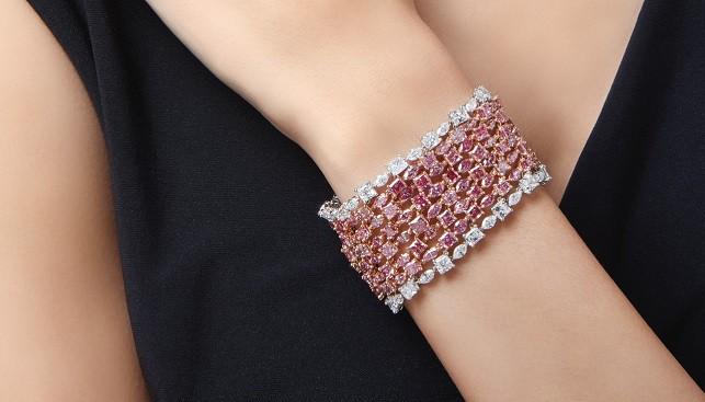 sothebys pink diamond bracelet
