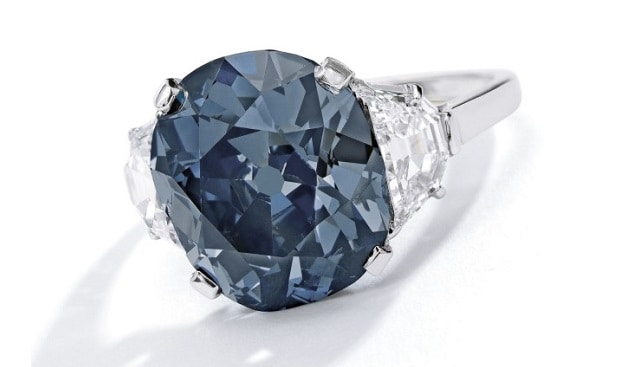 the indian blue diamond ring