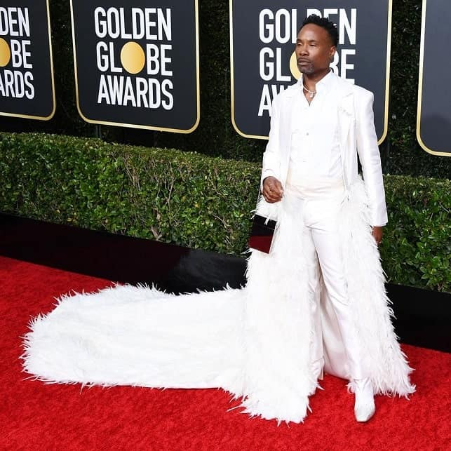 billy porter diamond jewelry at the golden globe