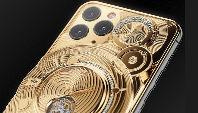 caviar gold diamonds iphone
