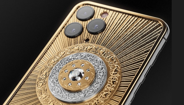 gold diamonds phone by caviar