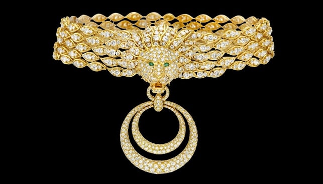 yellow gold diamonds necklace by Van Cleef and Arpels