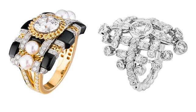 Tweed diamond Rings chanel