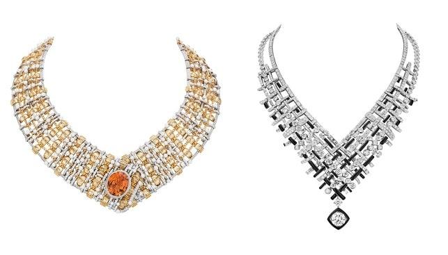 Tweed diamond Necklaces chanel