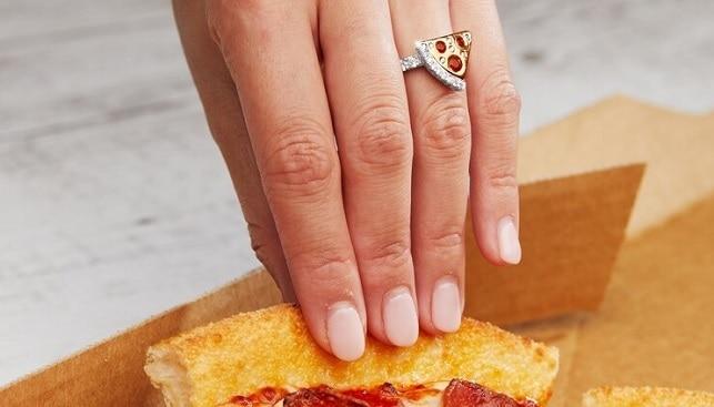 dominos pizza diamond ring