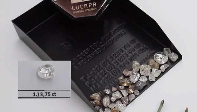 lucapa lulu rough diamonds