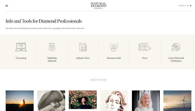 natural diamonds council website