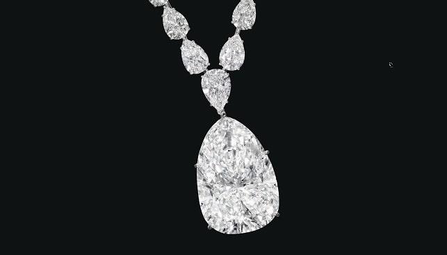 Chrsties Diamond Pendant Necklace
