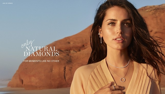Ana de Armas natural diamonds campaign