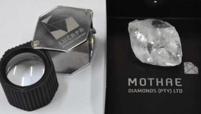 large rough diamond 101 carat from mothae mine by lucapa