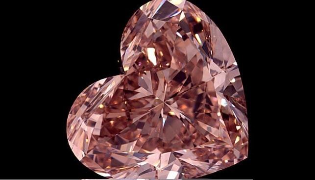 polished pink diamond lucapa