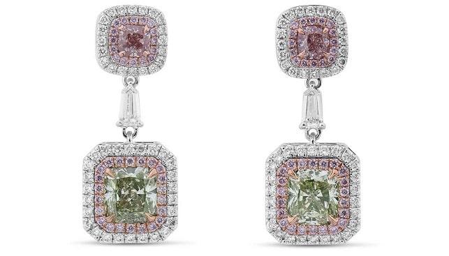 pink diamonds earrings astteria
