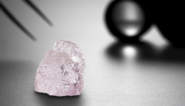 25.97 carat Fancy Pink Diamond pink dawn
