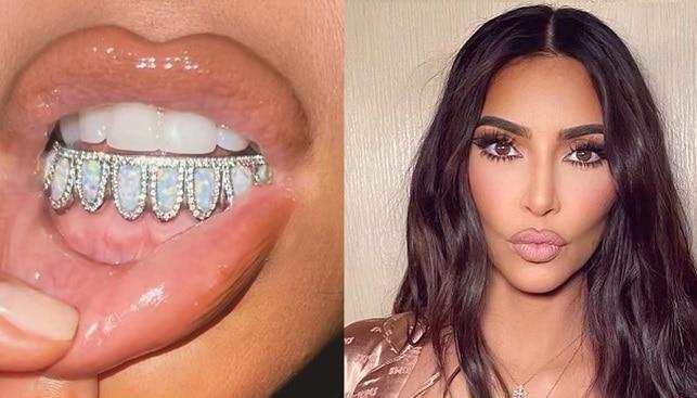 kim kardashian diamond grill