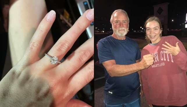 lost diamond engagement ring