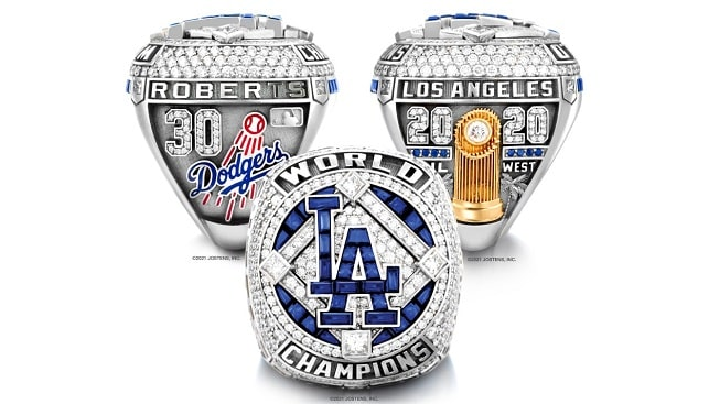 los angeles dodgers diamond rings