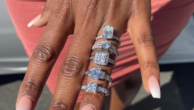 five diamond engagement rings
