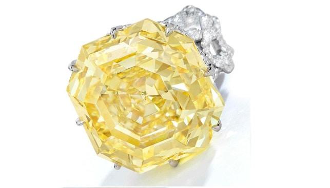 Spiro yellow diamond 73 carat