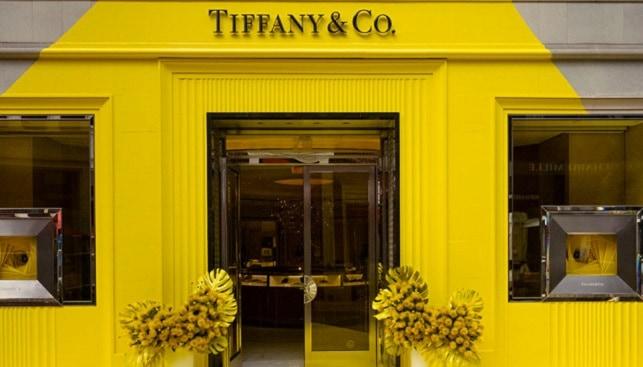 TIffany jewelry Yellow branding